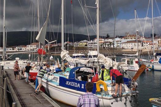 Arrival at Marina Praia da Vitoria, Terceira JAC 16
